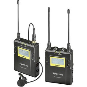 Sistema-Microfone-de-Lapela-Omni-Wireless-Saramonic-UwMic9-para-Montagem-em-Camera--514-a-596-MHz-