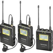 Sistema-2x-Microfone-de-Lapela-Omni-Wireless-Saramonic-UwMic9-para-Montagem-em-Camera--514-a-596MHz-