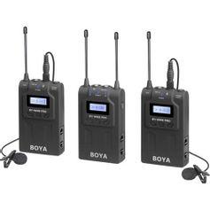 Sistema-Microfone-Lapela-Sem-Fio-Boya-BY-WM8-Pro-K2-Wireless-de-Dois-Canais-UHF