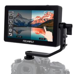 Monitor-de-Camera-TouchScreen-F6-Plus-de-5.5--Full-HD-HDMI-com-Suporte-4K-e-3D-Lut