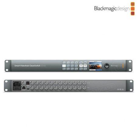 Hub-Switch-Video-Blackmagic-Design-Smart-VideoHub-CleanSwitch-12x12-6G-SDI