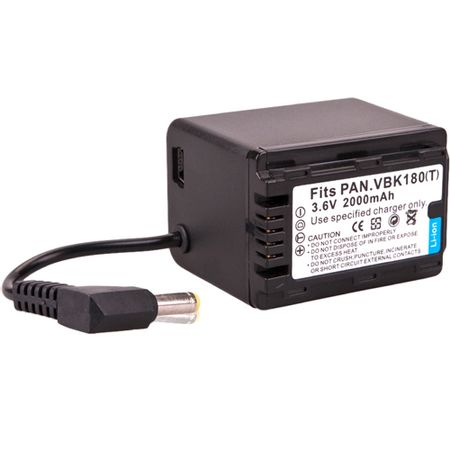 Bateria-VBK180-T--com-Plugue-para-Filmadora-Panasonic