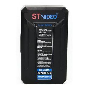 Bateria-V-Mount-STVideo-ST-300V-Broadcast-de-300Wh---14.8V-USB-PowerBank-D-Tap