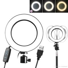 Iluminador-de-Led-Circular-8--Bi-Color-Video-Ring-Light-20cm-USB--3200-5500K-