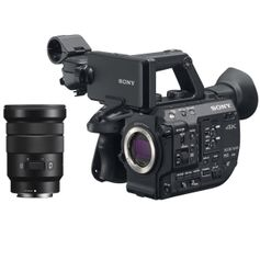 Filmadora-Sony-PXW-FS5-4K-XDCAM-Super-35mm-Streaming-com-Lente-Sony-18-105mm