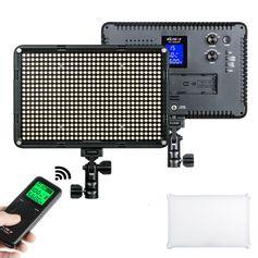 Iluminador-de-LED-Profissional-Viltrox-VL-D640T-com-Controle-Digital-de-Ajuste-de-Brilho-e-Temperatura-de-Cor--Fonte-Bivolt-