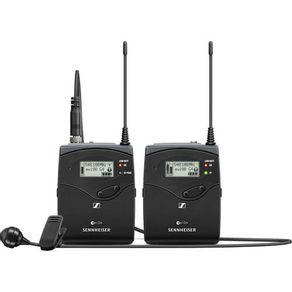 Sistema-Microfone-de-Lapela-Se-Fio-Sennheiser-EW-122P-G4-Wireless-para-Montagem-em-Camera