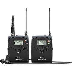 Sistema-Microfone-de-Lapela-Se-Fio-Sennheiser-EW-112P-G4-Wireless-para-Montagem-em-Camera