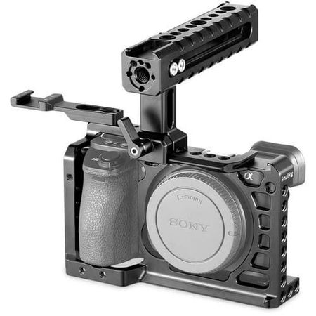 Kit-Gaiola-Cage-Advanced-SmallRig-2081-com-Punho-Handle-Grip-para-Sony-A6500