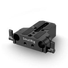 Plate-de-Base-SmallRig-1674-com-Bracadeira-Dupla-de-Haste-15mm