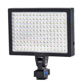 Iluminador-SunGun-160Leds-Video-Light-LED-1700-Profissional-com-Bateria-e-Carregador