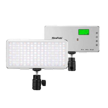 Iluminador-de-Led-Pocket-Nicefoto-SL-120A-Video-Light-12W-Ultra-Fino-Bi-Color-com-Bateria-Interna
