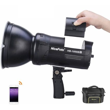 Luz-Continua-LED-NiceFoto-HB-1000BII-100W-Daylight-Video-Light-com-Bateria-Integrada--Bivolt-