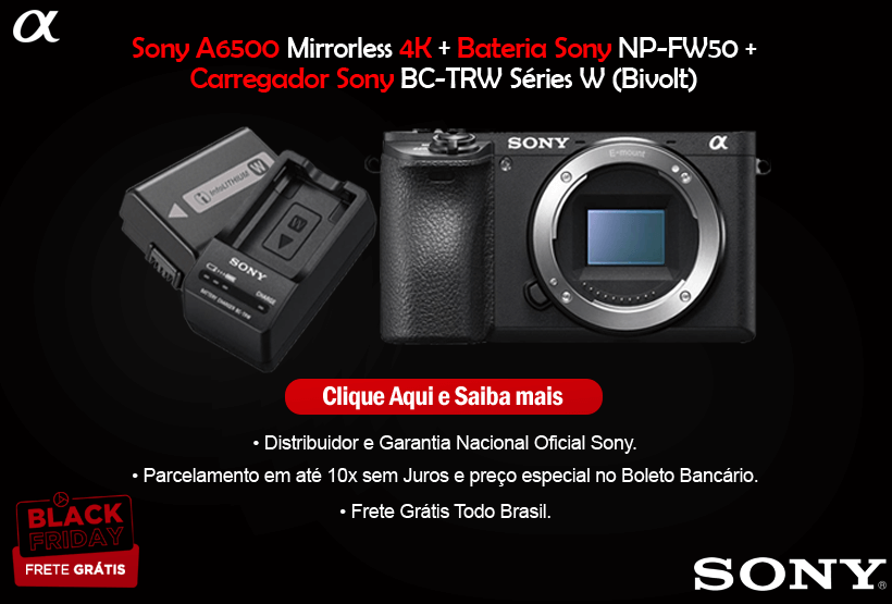 Sony A6500 4K + ENP-FW50 + BC-TRW Black Friday Mobile