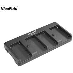 Adaptador-Nicefoto-NP-04-Conversor-de-Bateria-NP-F-para-V-Mount--4-Slots-