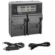 Carregador-Duplo-para-Sony-NP-FV100-FV50-de-Carga-Rapida-e-Visor-de-LCD--Bivolt-