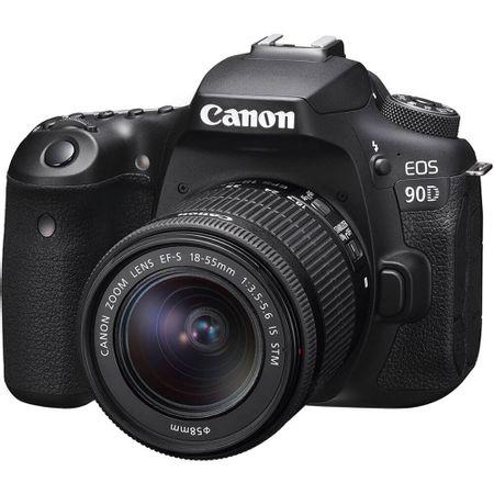 Camera-DSLR-Canon-EOS-90D-com-Lente-18-55