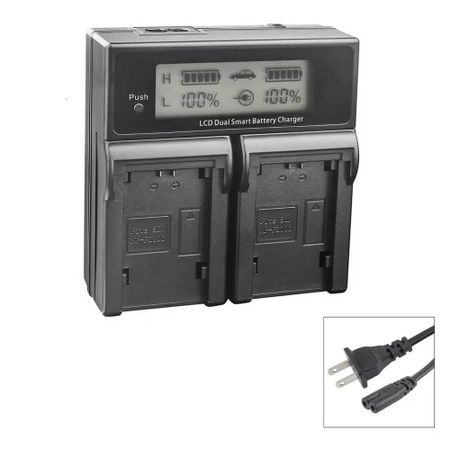 Carregador-Duplo-para-Bateria-Canon-LP-E17-de-Carga-Rapida-e-Visor-de-LCD--Bivolt-