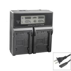 Carregador-Duplo-para-Bateria-Canon-LP-E10-de-Carga-Rapida-e-Visor-de-LCD--Bivolt-