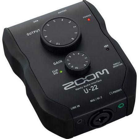 Interface-de-Audio-Zoom-U-22-Gravacao-e-Desempenho-Movel-USB