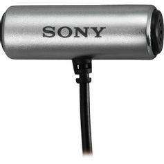 Microfone-Lapela-Sony-ECM-CS3-com-Clipe-Gravata