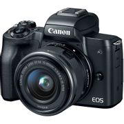 Camera-Canon-EOS-M50-Mirrorless-com-Lente-15-45mm