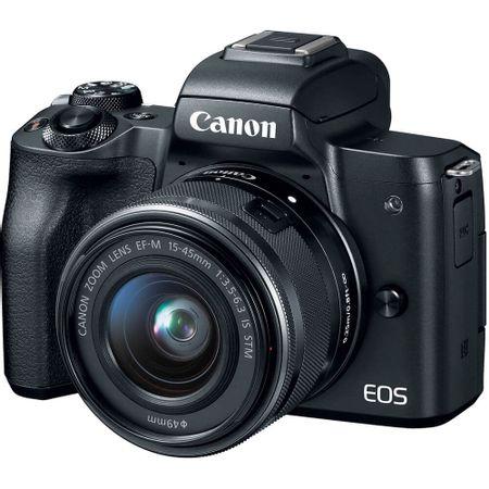 Camera-Canon-EOS-M50-Mirrorless-com-Lente-15-45mm