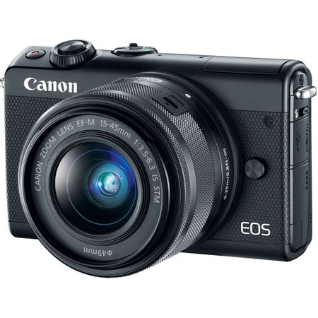Camera-Canon-EOS-M100-Mirrorless-com-Lente-15-45mm