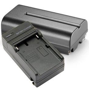 Kit Bateria e Carregador NP-F550 / NP-F570 para Sony, Monitores e Iluminadores de Led
