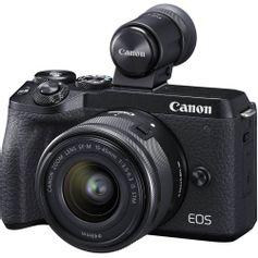 Camera-Canon-EOS-M6-MarkII-Mirrorless-com-Lente-15-45mm-e-Visor-EVF-DC2--Preta-
