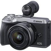 Camera-Canon-EOS-M6-MarkII-Mirrorless-com-Lente-15-45mm-e-Visor-EVF-DC2--Prata-