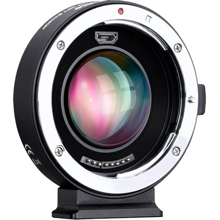 Adaptador-de-Lente-Commlite-Lente-Canon-EF-para-Cameras-M4-3-com-Iris-Eletronica-e-f-0.71X-Speed-Booster--CM-AEF-MFT-Booster-