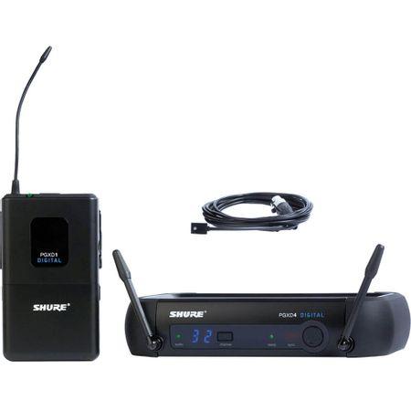 Sistema-Wireless-Microfone-Lapela-Shure-PGXD14-93-X8B-Omni-Digital-Sem-Fio