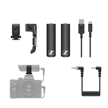 Sistema-Microfone-Sennheiser-XSW-D-Portable-Base-Set-Digital-Wireless-P2-com-Montagem-em-Cameras-2.4GHz