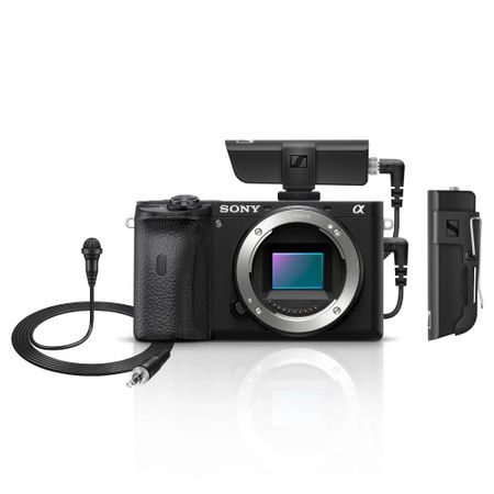 Kit-Camera-Sony-A6600-Mirrorless-4K--Corpo----Microfone-Lapela-Sennheiser-XSW-D-Wireless-com-Receptor