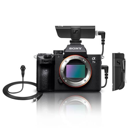 Kit-Camera-Sony-a7III-Mirrorless--Corpo----Microfone-Lapela-Sennheiser-XSW-D-Wireless-com-Receptor