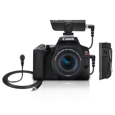 Kit-Camera-Canon-SL3-4K-com-Lente-18-55mm---Microfone-Lapela-Sennheiser-XSW-D-Wireless-com-Receptor