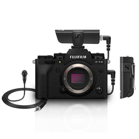 Kit-Camera-FujiFilm-X-T4-Mirrorless-4K--Corpo-Preto----Microfone-Lapela-Sennheiser-XSW-D-Wireless-com-Receptor