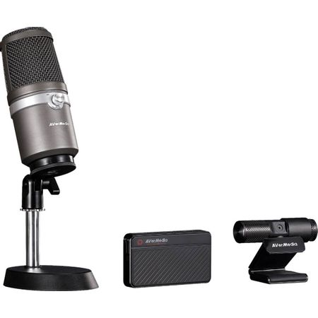 Kit-Live-Streamer-AVerMedia-311-com-Placa-de-Captura-Webcam-e-Microfone-USB--BO311-