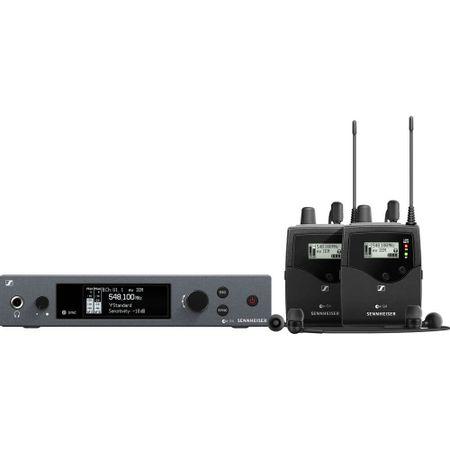 Sistema-de-Monitoramento-Sem-Fio-Duplo-Sennheiser-EW-IEM-G4-TWIN-A1-Wireless-com-2-Fone-IE-4--A1--470-a-516MHz-