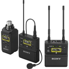 Sistema-Wireless-Sony-UWP-D26-de-Microfone-de-Lapela-Sem-Fio-2-Transmissores-e-Montagem-em-Camera