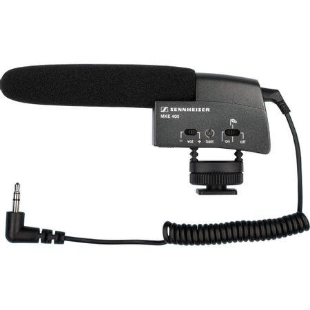 Microfone-Shotgun-Sennheiser-MKE-400-com-Montagem-em-Cameras-e-Gravadores