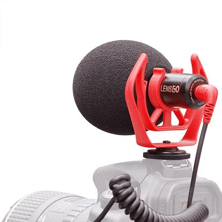 Microfone-Shotgun-Direcional-LensGo-DMM1-Condensador-Universal-para-Cameras-e-SmartPhones