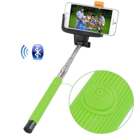 Bastao-de-Selfie-com-Disparador-Bluetooth-Universal-Verde