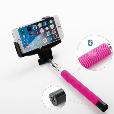 Bastao-de-Selfie-com-Disparador-Bluetooth-Universal-Rosa-Pink