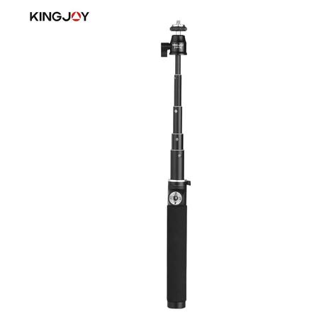 Bastao-de-Selfie-Retratil-de-Aluminio-Kingjoy-H100D-Cabeca-Ball-1-4--para-Smartphone-e-Cameras-de-Acao