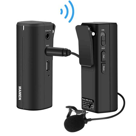 Sistema-Microfone-Lapela-Sem-Fio-Mamen-WMIC-5G-Wireless-P2-para-SmartPhones-Cameras-e-Filmadoras