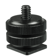 Sapata-com-parafuso-1-4--para-Braco-articulado-Flash-e-Iluminador-de-Led