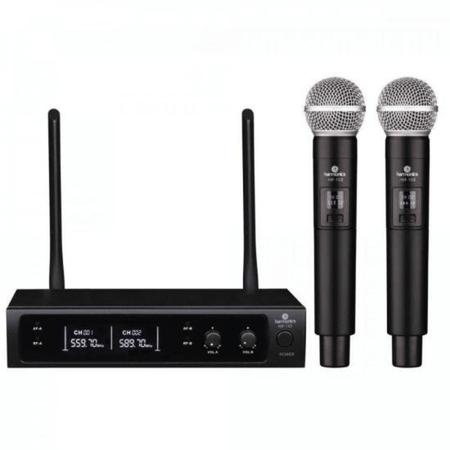 Sistema-Sem-Fio-Duplo-Microfone-Mao-Harmonics-HSF-102-Wireless-UHF