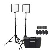 Kit-Iluminacao-Led-Super-Slim-NiceFoto-SL307-50W-de-3200-6500K-para-Estudio-Fotografico--Tripes-e-Baterias-